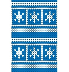 Winter seamless knitting pattern vector image
