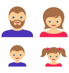 Family member icons vector image vector image