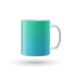 Green souvenir mug on white background vector image vector image
