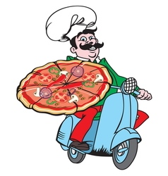 Italian pizza delivery1 resize vector image vector image