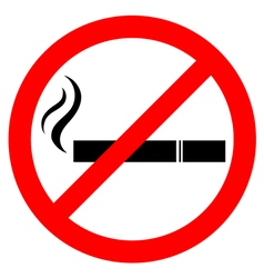 Prohibiting smoking sign vector image vector image