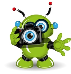 Robot with Camera vector image vector image