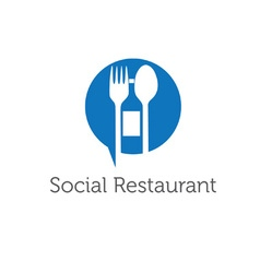 social restaurant design template vector image