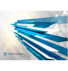 Abstract perspective technology geometric blue vector
