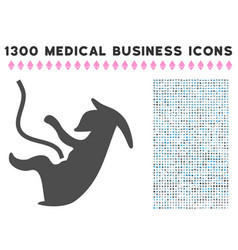 Alien embryo icon with 1300 medical business icons vector