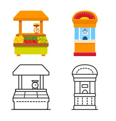 Amusement and store symbol vector
