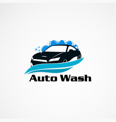 Auto wash car logo designs concept icon element vector