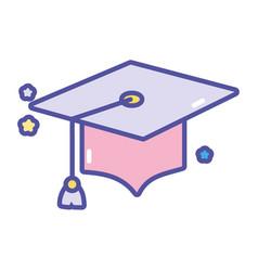 back to school graduation hat success vector image