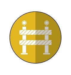 Barrier restricted street stripe design yellow vector