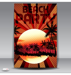 Beach party invitation vector
