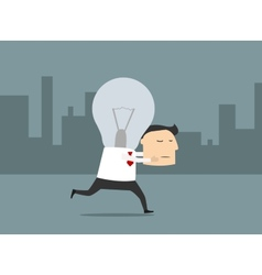 Businessman with fresh great idea vector image