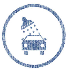 car wash fabric textured icon vector image
