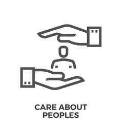 Care about peoples vector