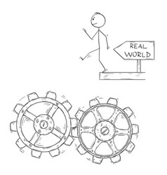 Cartoon of man or businessman walking artless to vector