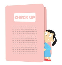 check up vector image vector image