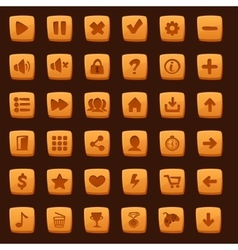 collection cartoon menu buttons vector image