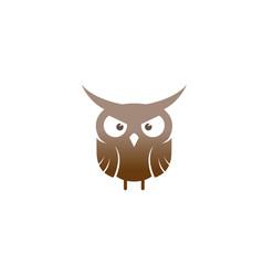 creative mad cute owl logo design symbol vector image