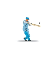 Cricket player hit the ball sign vector image