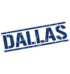 Dallas blue square stamp vector
