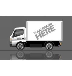 Digital silver and white realistic vehicle vector image