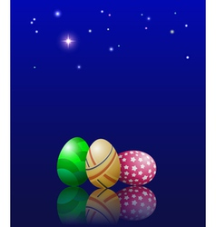 Easter eggs and stars vector