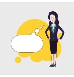 Elegant business woman cartoon character vector