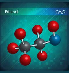 Ethanol molecules vector image