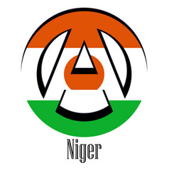 flag of niger of the world in the form of a sign vector image