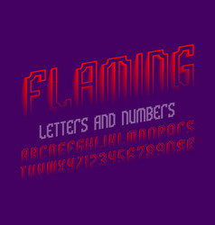 flaming letters and numbers with currency signs vector image
