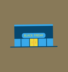 Flat icon of shop black friday vector