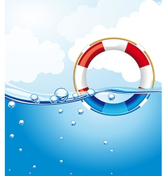 Float over water with bubbles background vector