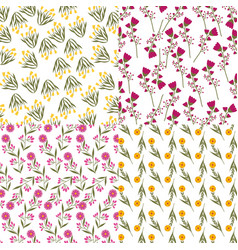 Flowers background design vector