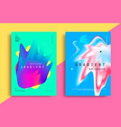 fluid gradient modern poster with fluid shape vector image