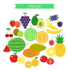 Fruit icon set vector