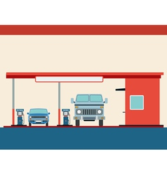 Fuel station vector