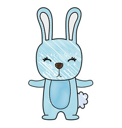 Grated cute rabbit wild animal of the forest vector