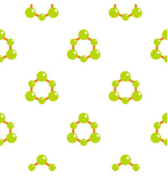 Green molecule structure pattern flat vector