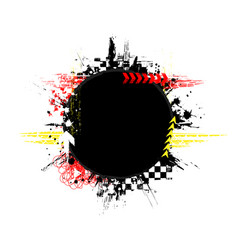 grunge color tire black circle vector image