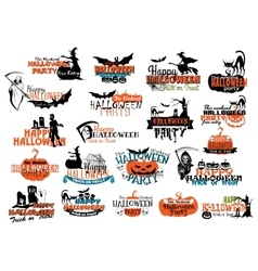 Halloween party banners and headers vector image