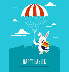 happy easter day background decorative vector image