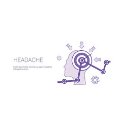 headache web banner with copy space health care vector image