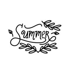 hello summer script text design template vector image
