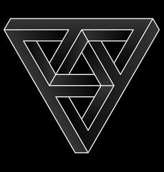 Impossible triangular icon vector