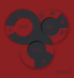 ingographic round design vector image