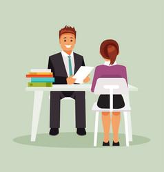 Interview work vector