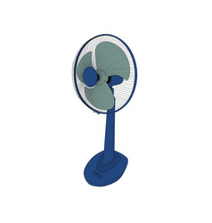 isolated modern electric fan icon vector image
