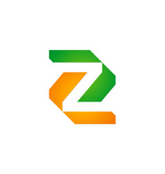 letter z geometry company logo vector image