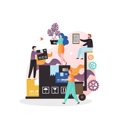 Loader services concept for web banner vector