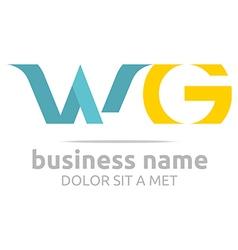 logo letter w g alphabet element icon vector image