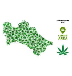Marijuana collage turkmenistan map vector